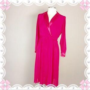 VINTAGE Sexy MAVINETTE Pink pleated Skirt Dress 6